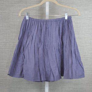 Free People Purple Pleated Skirt - 0